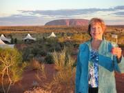 Ann travels the world-from  Longitude 131 resort in Yalaru, Australia near Uluru (Ayers Rock)