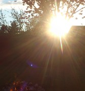 Rainbow Sun Fire and Violet Orb and Light Sphere
