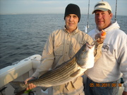 Wounded Warrior Chesapeake Bay Trophy Striped Bass fishing trip May 16 2011