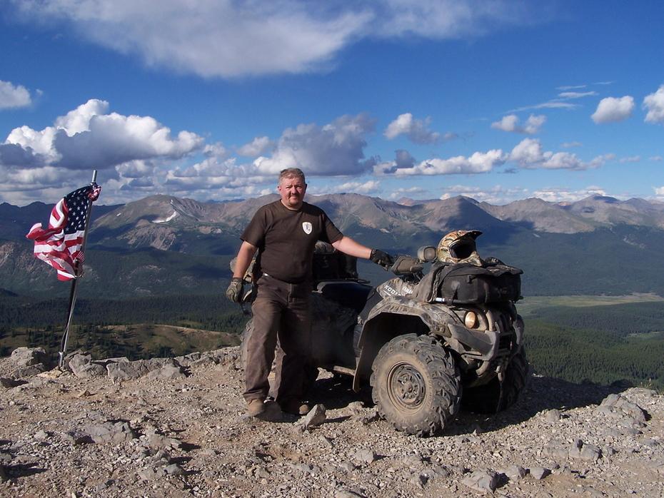 On Top of American Flag Mt, Gunnison Colorado