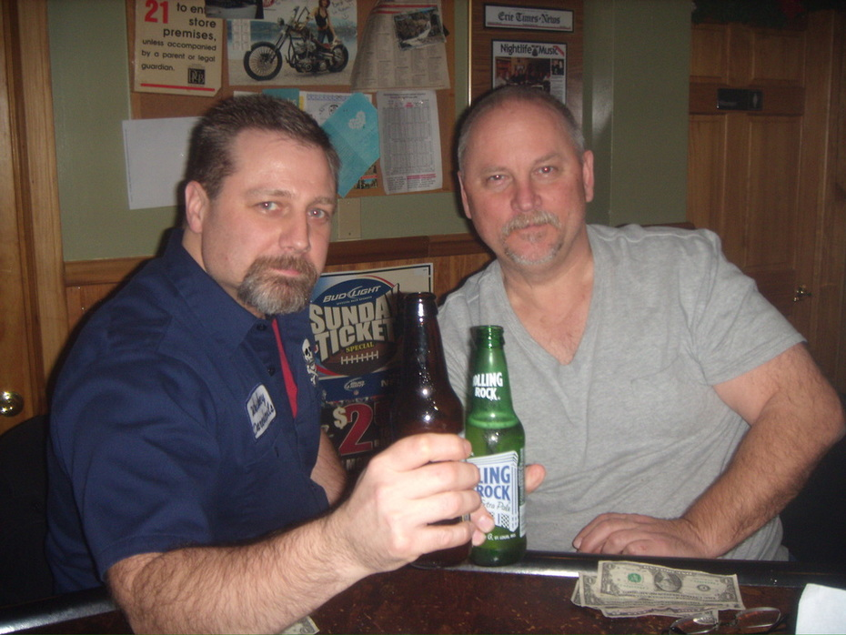 Rolling Rock for Bill and a Railbender  for me at Gatherings.