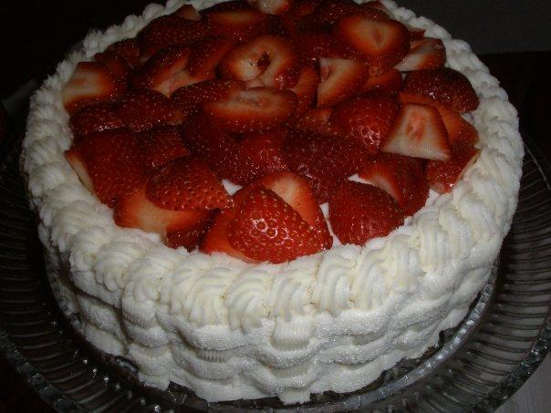 Buttercream Strawberry Cake