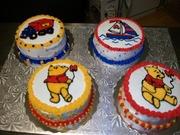 four mini cakes (6in.)