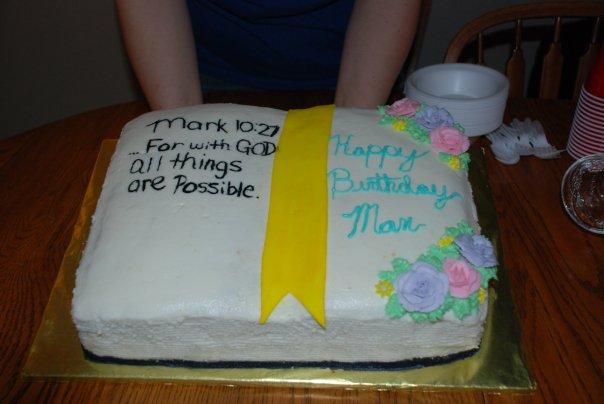 Bible Birthday cake