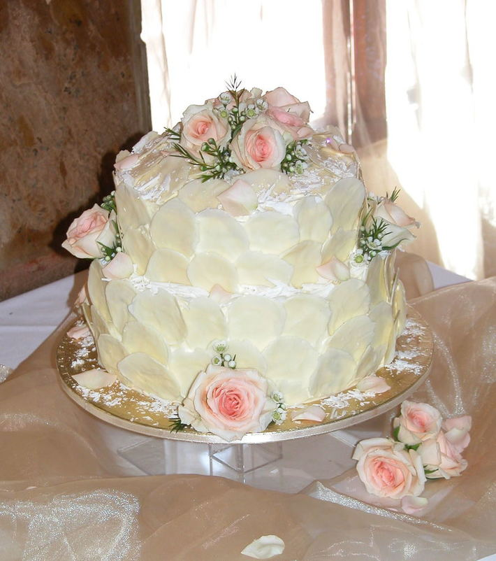 Chocolate Petal Wedding Cake