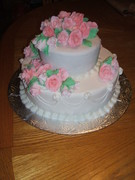 my 1st time making a wedding cake