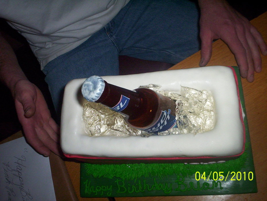 Igloo Cooler with a Bud Light