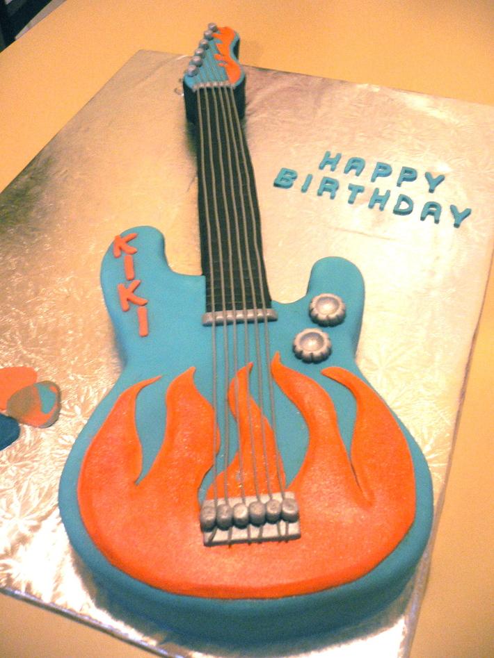Awe Inspiring Flaming Electric Guitar Birthday Cake Cake Decorating Community Funny Birthday Cards Online Alyptdamsfinfo