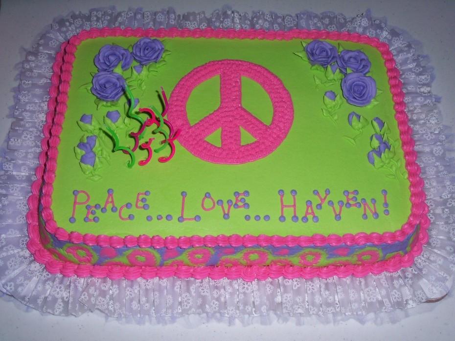 Fine Peace Birthday Cake Cake Decorating Community Cakes We Bake Personalised Birthday Cards Cominlily Jamesorg