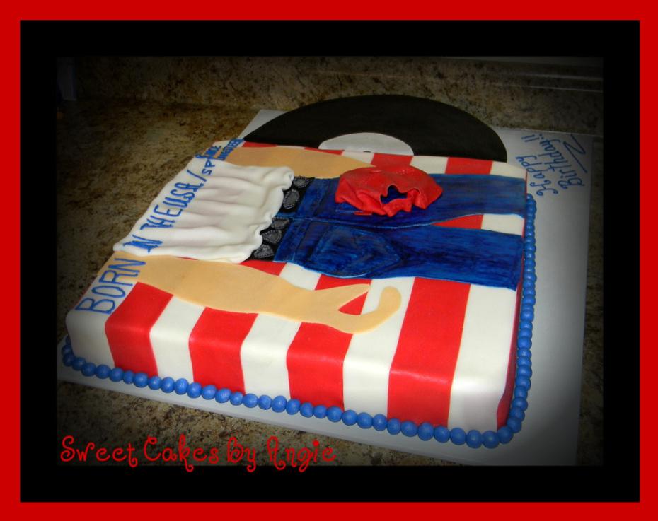 Prime Bruce Springsteen Birthday Cake Cake Decorating Community Funny Birthday Cards Online Bapapcheapnameinfo