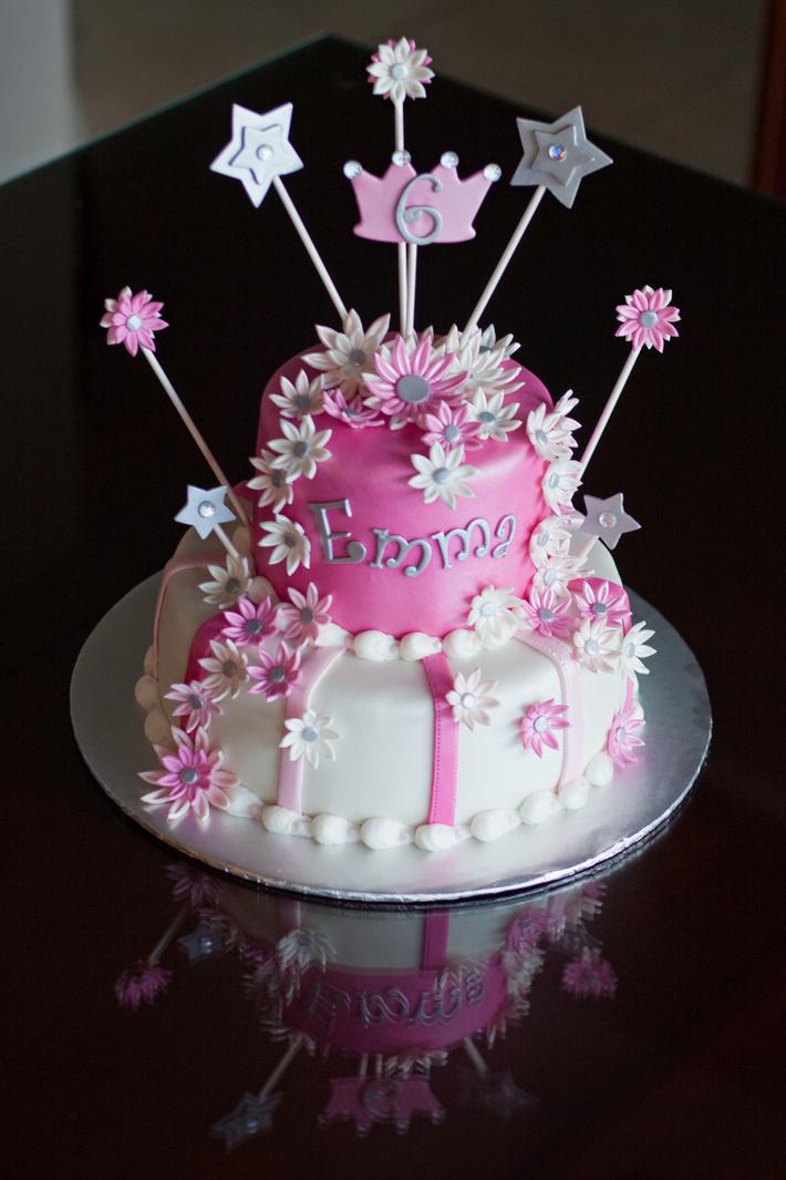 2010-09-10 Pink White Princess Cake with Rhinestones ...