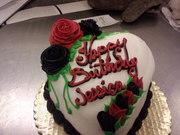 Happy Birthday, hearth shaped