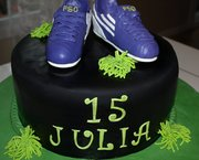 Soccer Shoes Cake