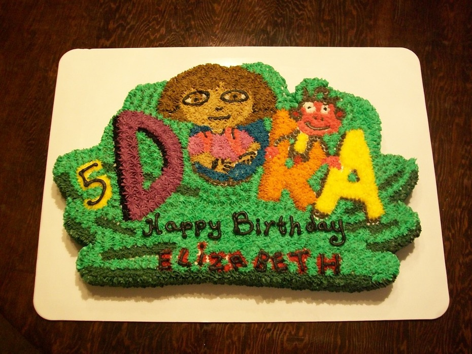 Marvelous Dora Birthday Cake Cake Decorating Community Cakes We Bake Personalised Birthday Cards Paralily Jamesorg