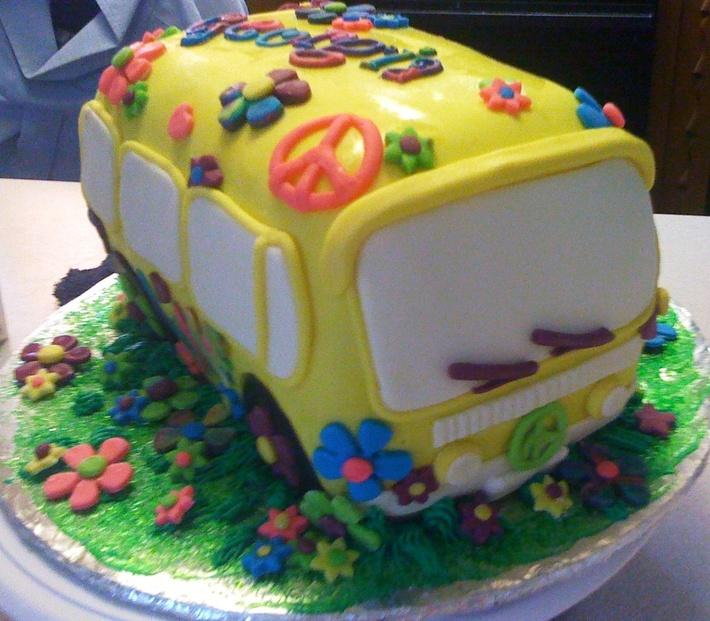 Hippie Birthday Cake