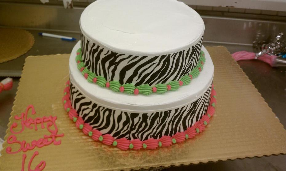 Tiered Zebra print