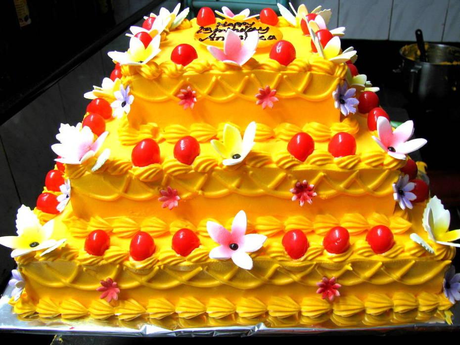 FRESH MANGO WEDDING CAKE