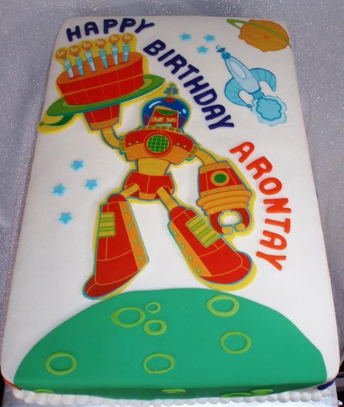 Fabulous Robot Birthday Cake Cake Decorating Community Cakes We Bake Personalised Birthday Cards Epsylily Jamesorg