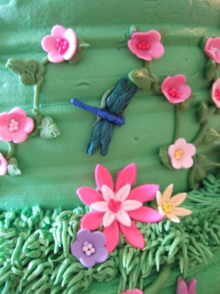 Garden Baby Shower Cake