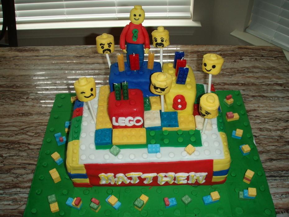 Matthew's lego birthday cake