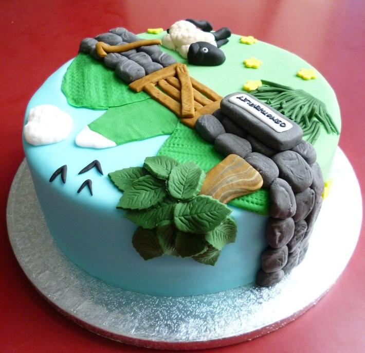 Countryside Scene Birthday cake for Megan's Nan