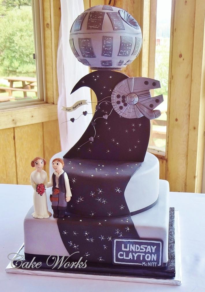 Star Wars Themed Wedding Cake