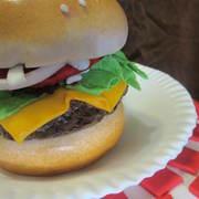 BBQ cake hamburger close up