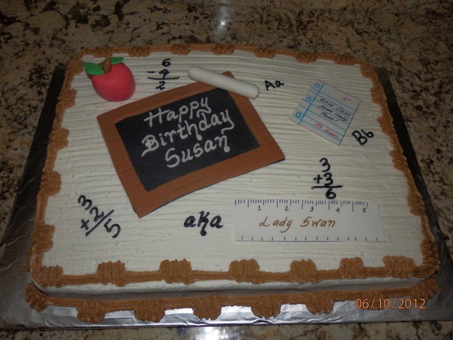 Teacher Birthday Cake