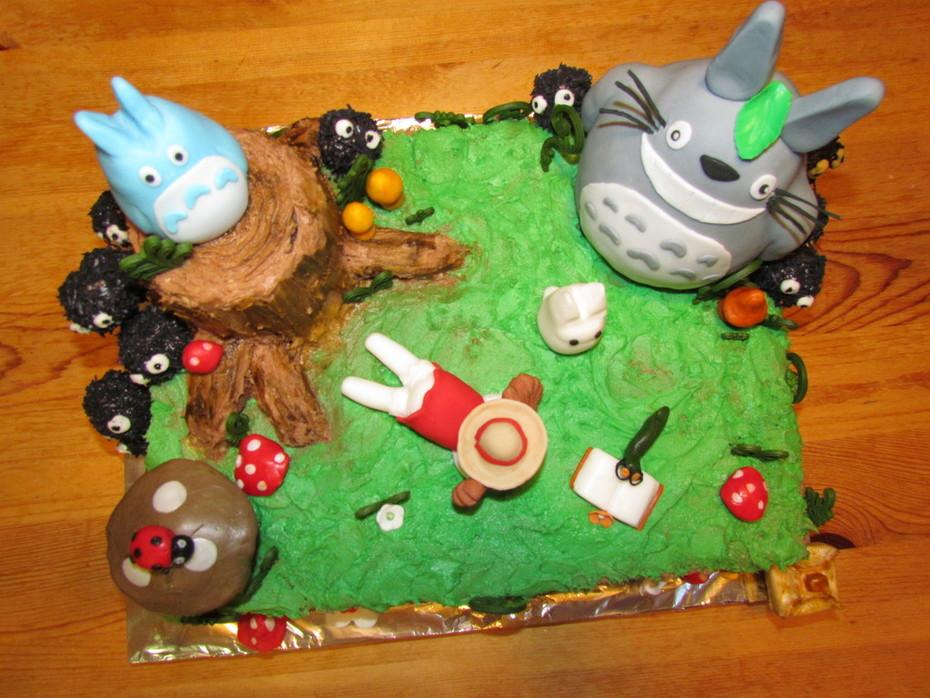 Enjoyable Totoro Birthday Cake Cake Decorating Community Cakes We Bake Funny Birthday Cards Online Aeocydamsfinfo