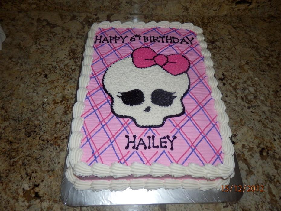 Fantastic Monster High Half Sheet Birthday Cake Cake Decorating Community Personalised Birthday Cards Cominlily Jamesorg