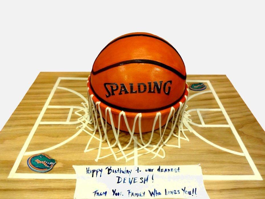 Awe Inspiring Basketball Birthday Cake Cake Decorating Community Cakes We Bake Funny Birthday Cards Online Kookostrdamsfinfo