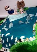 fiherman retirement cake