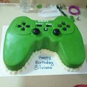 PS3 controller/ lime green 2