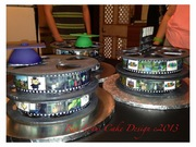 Movie Reel Grad Cakes