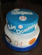All sports baby shower cake