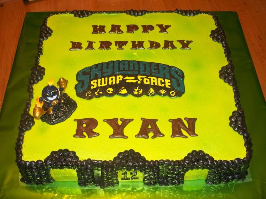 Pleasing Skylander Birthday Cake Cake Decorating Community Cakes We Bake Birthday Cards Printable Inklcafe Filternl