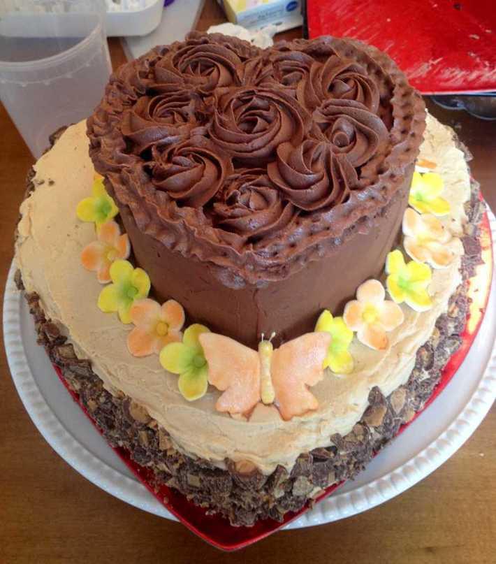 Chocolate peanut butter birthday cake
