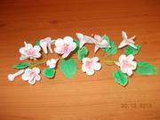 flori de primavara din pasta de zahar