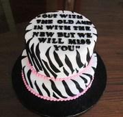 Zebra retirement cake