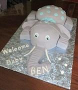 Baby Elephant Theme Baby shower Cake