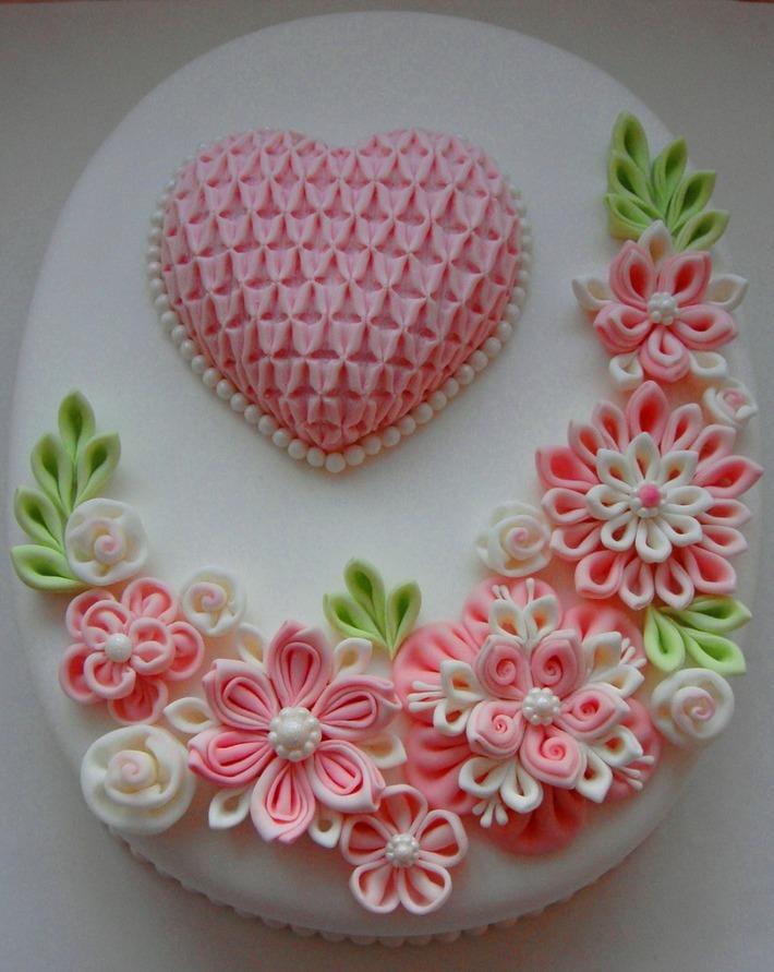 Ribbon flower cake MOM2014F