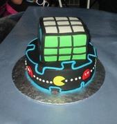 An 80's theme birthday cake