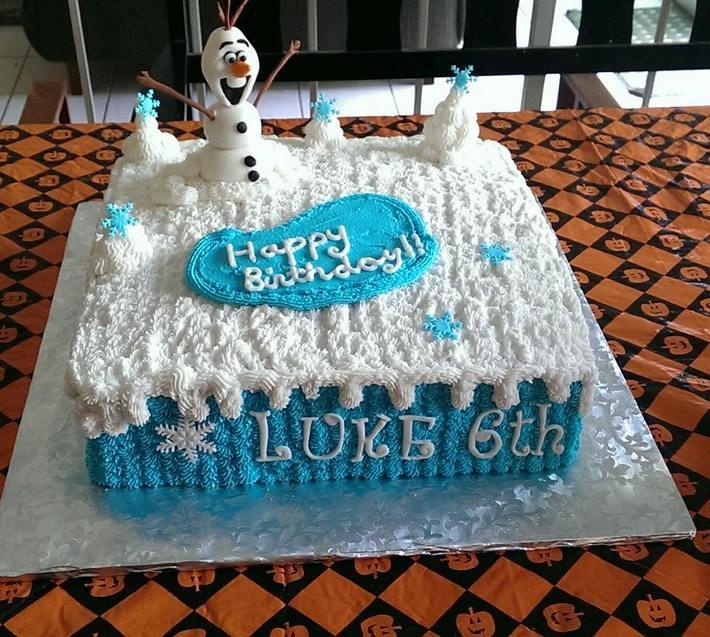 Olaf Birthday Cake