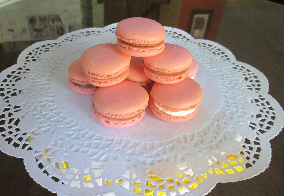 Pink French Macarons