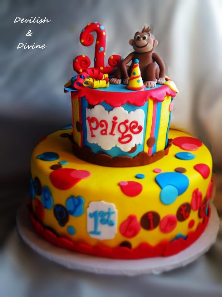 Fabulous Monkey Cake For 1St Birthday Cake Decorating Community Cakes Funny Birthday Cards Online Kookostrdamsfinfo