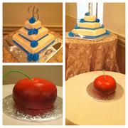 Malibu Blue Wedding Grooms Cake
