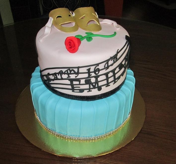 theatrical 16th birthday cake