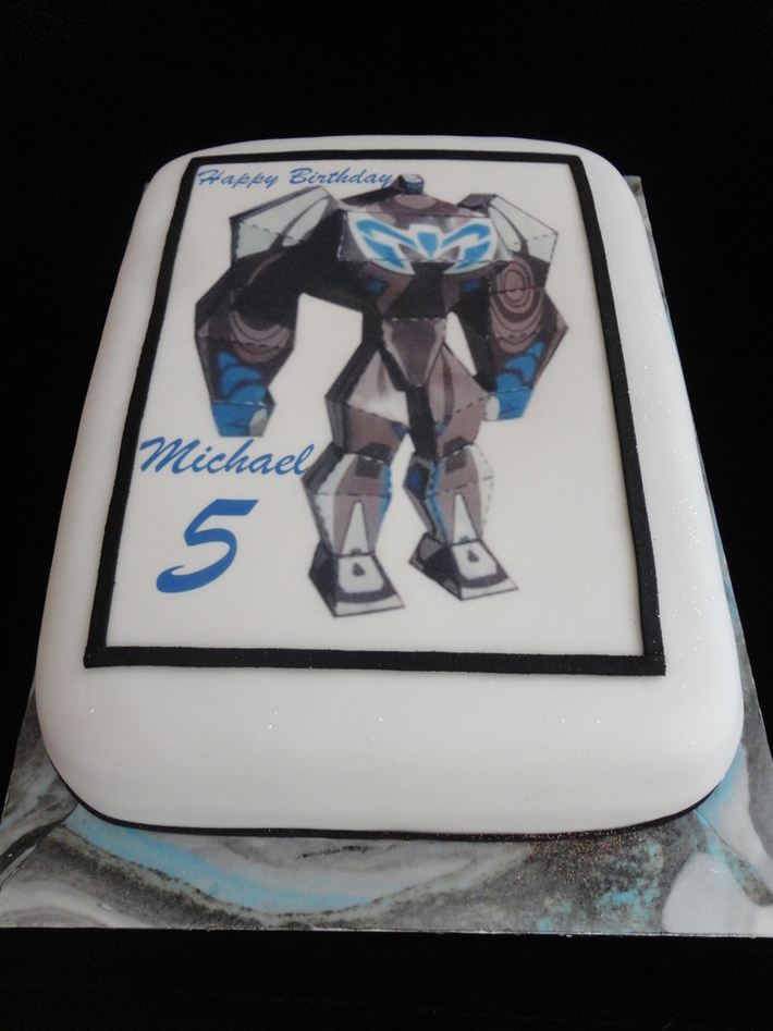 Max steel picture birthday cake