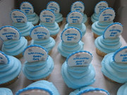 baby shower cup cakes