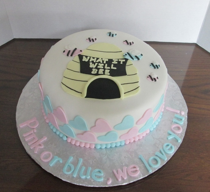 Gender Reveal Party Cake